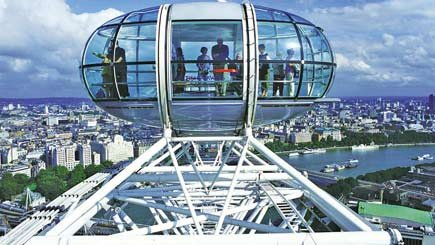 Thames Lunch Cruise and London Eye for Two