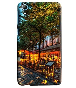 Blue Throat Café Sorbonne Printed Designer Back Cover/Case For HTC Desire 826