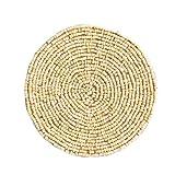 Shiraleah Beaded Round Coaster, Ivory