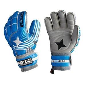 Derbystar Uni Torwarthandschuh Protect Basic Ar Duo, Blau, 5, 2571050000