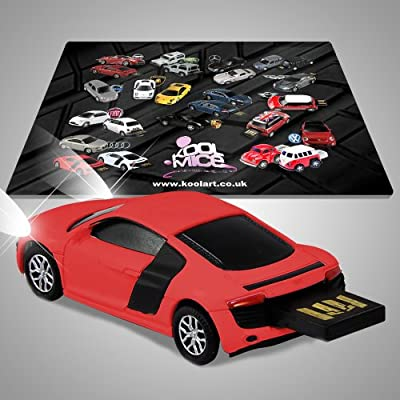 Audi R8 V10 Sports Official USB 4GB Flash Drive with Workstation Mouse Mat from AutoDrive