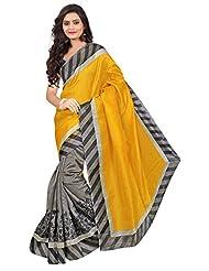 Pick Attire Women's Bhagalpuri Art Silk Saree,With Blouse (PS33-6012_Yellow)