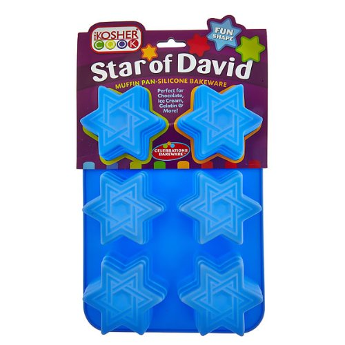 The Kosher Cook KCBW0146 Silicone Star of David Muffin/Cupcake Pan