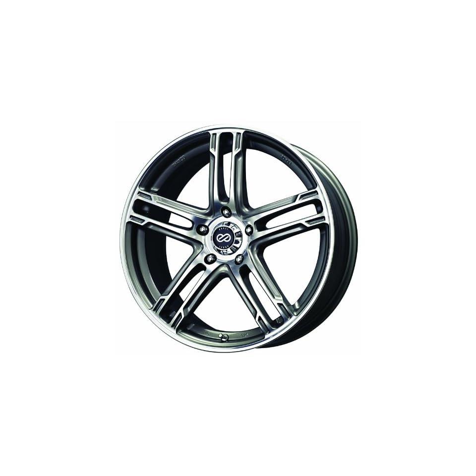 17x7 Enkei FD 05 (Gunmetal / Machined) Wheels/Rims 5x100 (434 770 8050GMM)