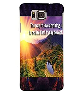 ColourCraft Beautiful Image with Quote Design Back Case Cover for SAMSUNG GALAXY ALPHA G850