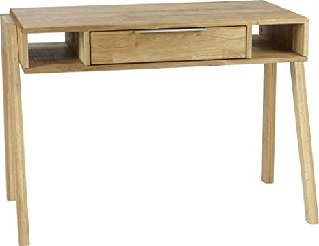 Bureau scandinave en bois brut