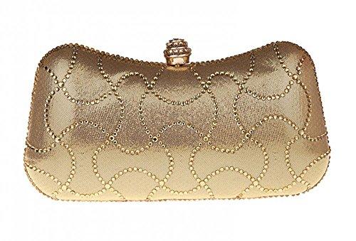 Womens Rhinestone Studded Baguette Handbag Chain Bags Mini Purse