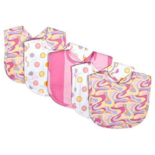 Trend Lab Dr. Seuss Oh, The Places You'll Go! Pink 5 Piece Bib Set, Pink