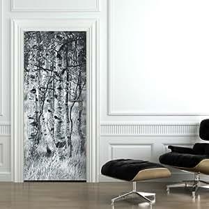 Carta da parati per porta betullewald raster 92 x 220 - Adesivi per porte interne ikea ...