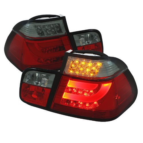 Spyder Auto Alt-Yd-Be4699-4D-Lbled-Rs Bmw E46 3-Series 4-Door Red/Smoke Light Bar Style Led Tail Light