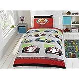 1 housse de couette et rideaux assortis motif voiture de. Black Bedroom Furniture Sets. Home Design Ideas