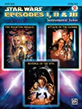 Star Wars Episodes I, II & III Instrumental Solos Book & CD (Alto Sax Edition)