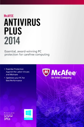 McAfee AntiVirus Plus 3PC 2014