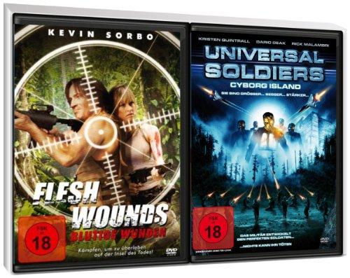 FSK 18 Spar-Set 2 DVDs Scifi Trash : Flesh Wounds - Blutige Wunden + Universal Soldiers - Cyborg Island