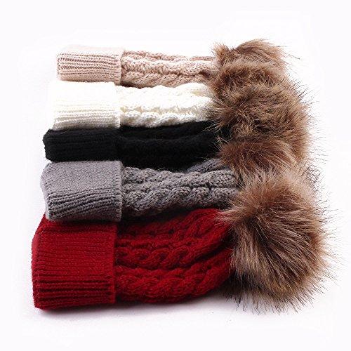 Datework Cute Winter Baby Knitted Wool Hemming Hat (Gray)