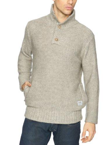 Rip Curl - Maglia jumper, colletto tondo, uomo, Grigio (Cement Marle), XL