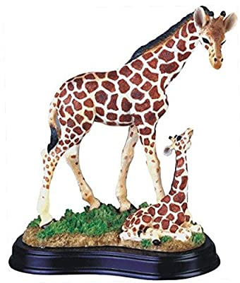 StealStreet SS-G-54004 Giraffe with Baby Collectible Wildlife Figurine Sculpture Statue Model