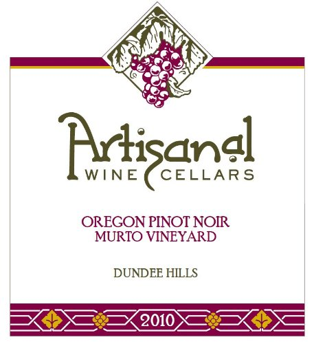 Artisanal 2010  Oregon Pinot Noir Murto Vineyard 750 mL