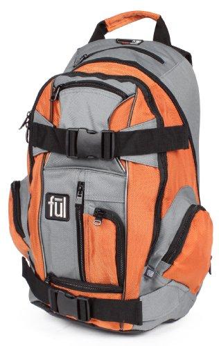 Ful Unisex Adult Overton Backpack (Orange-Gray, 20 X 12 X 7.5-Inch)