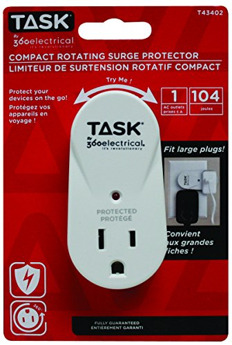 Task Tools by 360 Electrical Compact Rotating Surge Protector