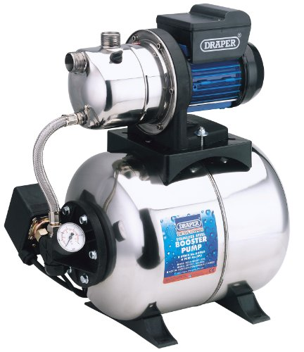 Draper 64988 50-Litres-per-Minute (Maximum) 230-Volt 700-Watt Stainless Steel Body Booster Pump