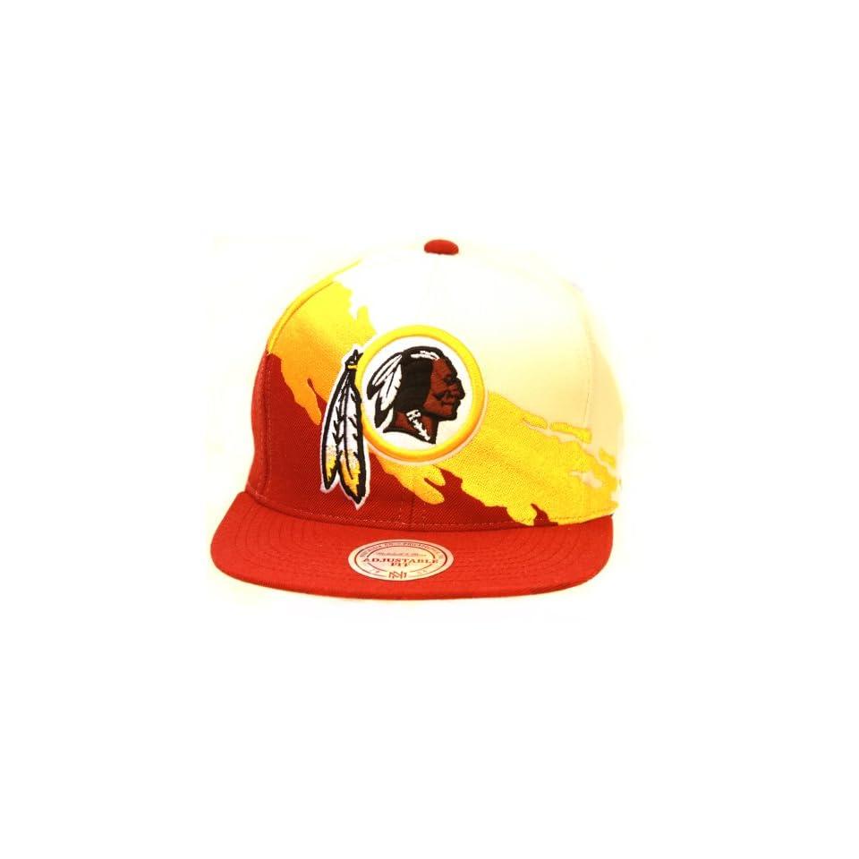 Mitchell & Ness Kansas City Chiefs NFL Snapback Hat, White/Red/Yellow + GT Sweat Wristband Clothing