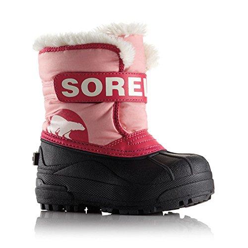 SOREL(ソレル) ウィンター ブーツ チルドレンスノーコマンダー スノーブーツ 防寒 防水 ボア 中綿 キッズ ジュニア US13(18cm) CoralPink nc1877-13-644