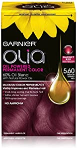 Garnier Hair Color Olia Oil Powered Permanent Hair Color, 5.6 Medium Garnet Red