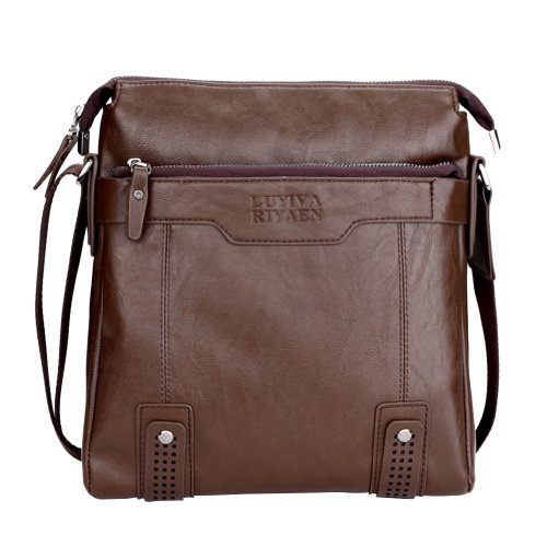 Men's Classic High Quality Vertical Bag Leisure Business Messeager Shoulder Bag Briefcase
