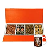 Chocholik Belgium Chocolates - Rich Treat Of Almonds, Raisin,truffles And Baklava Gift Box With Diwali Special...