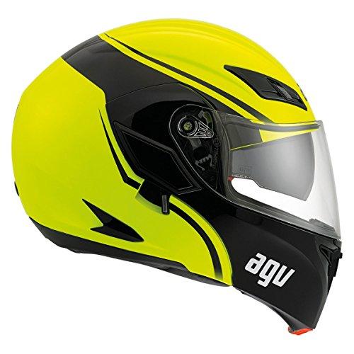 AGV Numo Solid Helmet , Gender: Mens/Unisex, Helmet Type: Modular Helmets, Helmet Category: Street, Distinct Name: Hi-Vis Yellow, Primary Color: White, Size: Md 101154E0005007