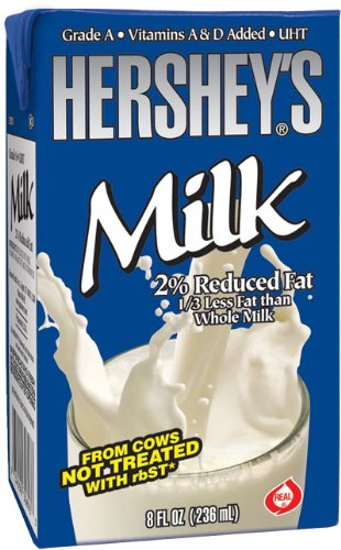 Hershey's 2% White Milk,  8-Ounce  (Pack of 27)