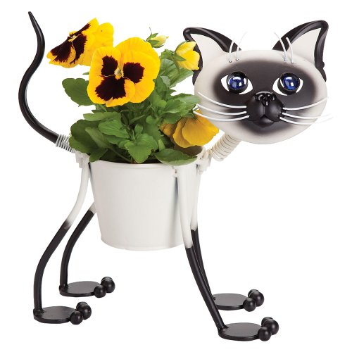 Mini Siamese Cat Planter