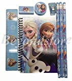 New Disney Blue Frozen Princess Anna Elsa & Olaf Stationary Set for Kids