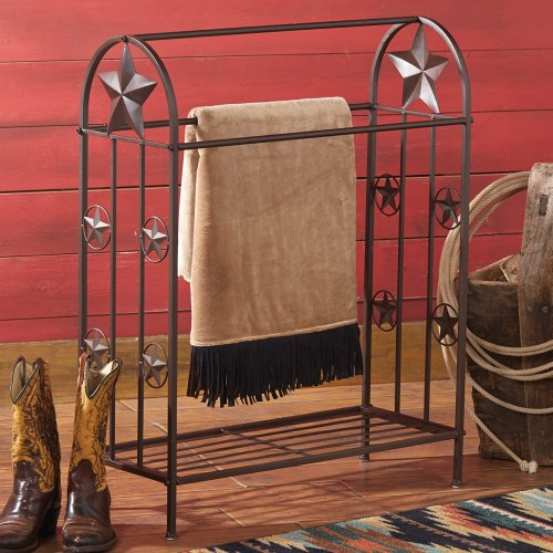 Metal Lone Star Rustic Quilt Rack - Southwestern Furniture (Iron Quilt Stand compare prices)