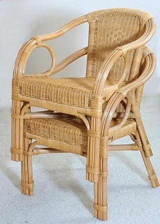 Rattan Sessel NEU in der Farbe HONIG 2 Stuck