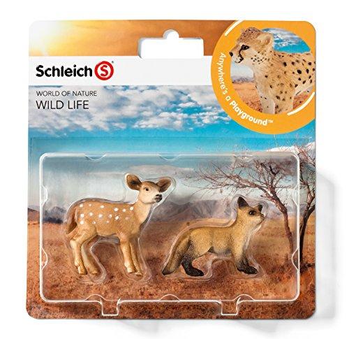 Schleich 21039 - Wild Life Babies, Wildtiere Spielset - Set 4