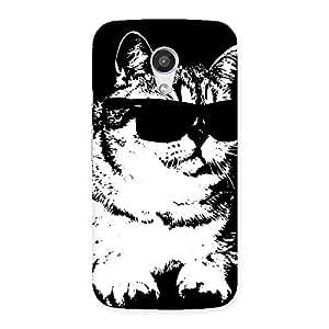 Thug Cat Back Case Cover for Moto G 2nd Gen