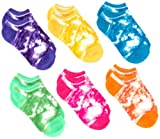 Jacques Moret Girls 7-16 Girls 6 Pack Tie Dye No Show Socks