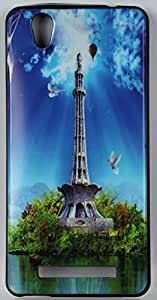 FCS Designer Silicon Back Case for Gionee F103 With Printed Design