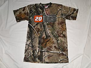 New Tony Stewart #20 Camo T-shirt by Chase Authentics
