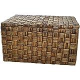Casa Mina 123511065 Truhe Wäschetruhe aus Wasserhyazinthe, Borneo braun 65cm