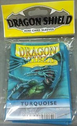 Dragon Shields Mini (50) - Turquoise - 1