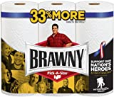 Brawny Big Roll Paper Towels, Pick-A-Size, White, 3 ct