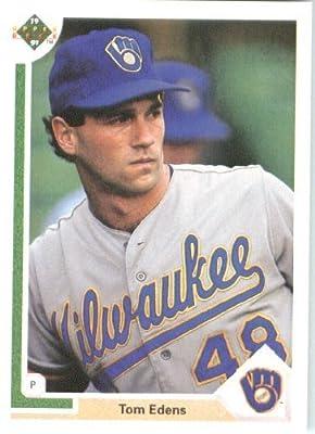 1991 Upper Deck # 616 Tom Edens (RC - Rookie Card) Milwaukee Brewers - MLB Baseball Trading Card