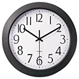 UNIVERSAL OFFICE PRODUCTS 10451 Whisper Quiet Clock, 12quot;, Black