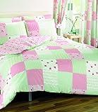 Dreams 'n' Drapes Bettwäsche-Set Patchwork für Einzelbett, rosa
