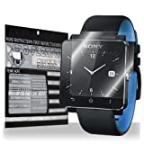 D-Flector Super HD Clear Scratch Resistant SONY SMARTWATCH 2 Screen Protector Android Watch - Free Replacement Program