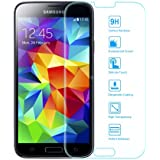 EasyAcc Samsung Galaxy S5 Glas Folie Schutzfolie Glas Panzerfolie Displayschutzfolie for Samsung Galaxy S5 i9600 Klar Anti-Kratz Screen Protector Displayschutz Displayfolie - 9H Hardness aus gehärtetem Glas