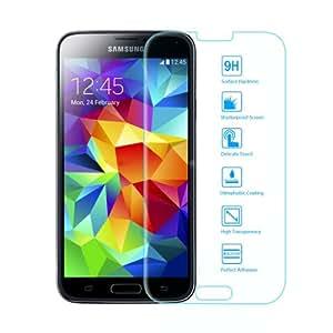 EasyAcc Samsung Galaxy S5 Glas Folie Schutzfolie Glas Panzerfolie Displayschutzfolie for Samsung Galaxy S5 i9600 Klar Anti-Kratz Screen Protector Displayschutz Displayfolie - 9H Hardness aus gehärtetem Glas